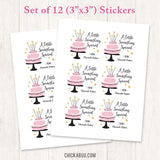 Pink, Black, and Gold Cake Gift Labels