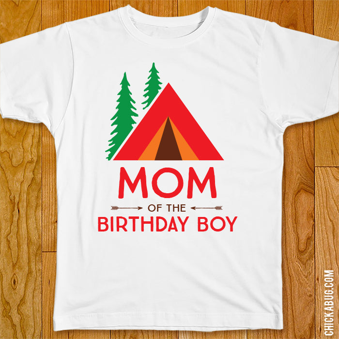 Camping Birthday Family Iron-On