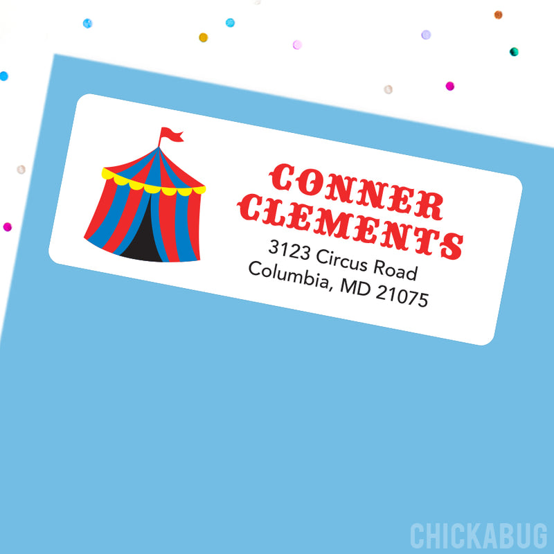 Carnival Address Labels