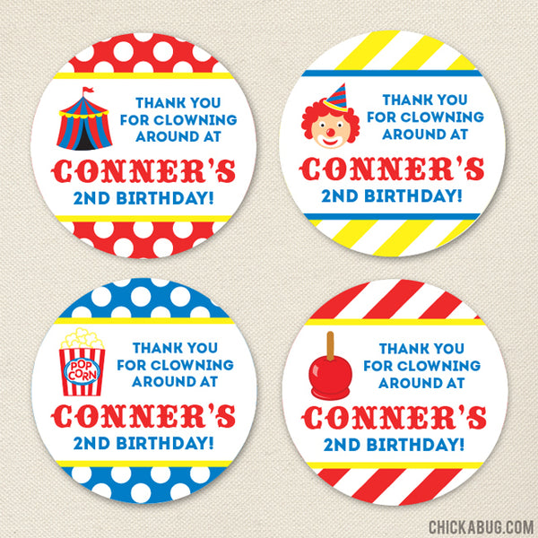 Carnival Party Favor Stickers