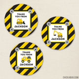 Construction Party Favor Stickers