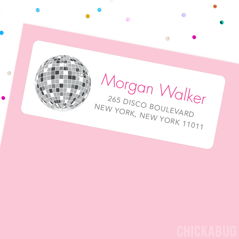 Disco Ball Address Labels