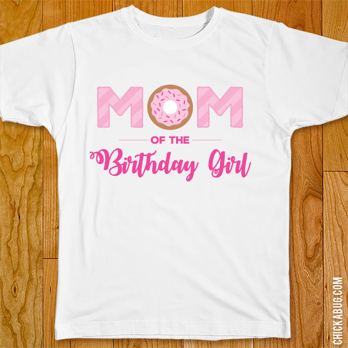 Pink Donut Birthday Family Iron-On