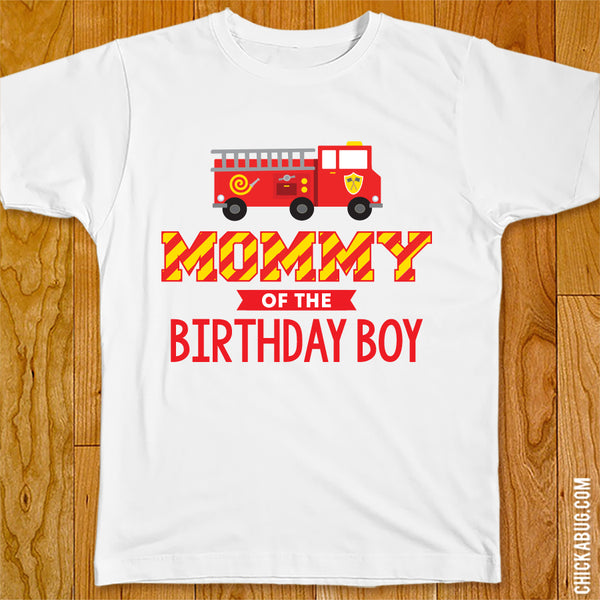 Fire Truck Birthday Family Iron-On