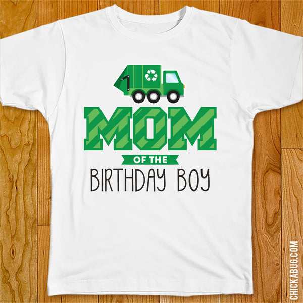 Garbage Truck Birthday Family Iron-On
