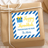 Hanukkah Personalized Gift Stickers