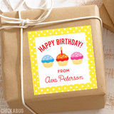 Cupcakes Birthday Gift Labels