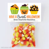 Halloween Cupcakes Paper Tags and Bags