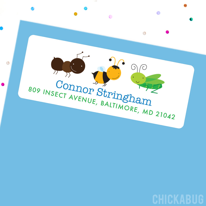 Cute Insects Address Labels
