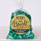 """Merry and Bright"" Holiday Stickers"