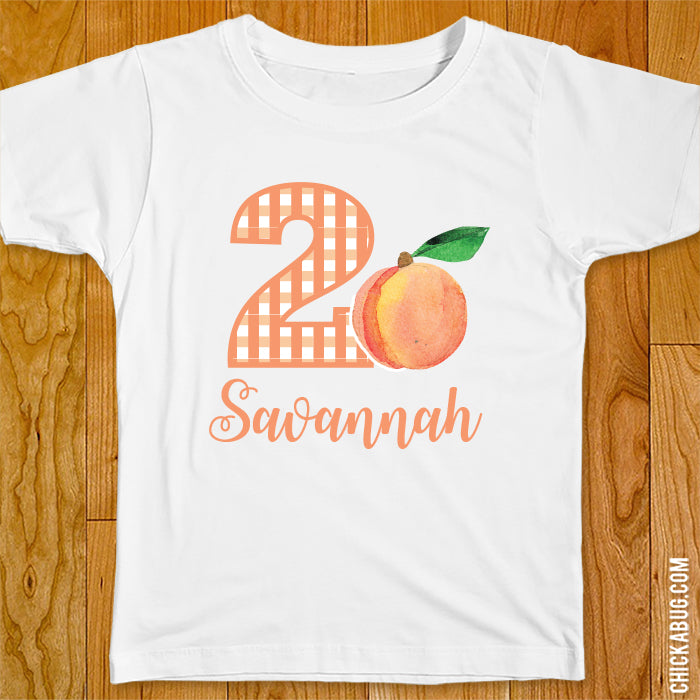 Peach Birthday Iron-On
