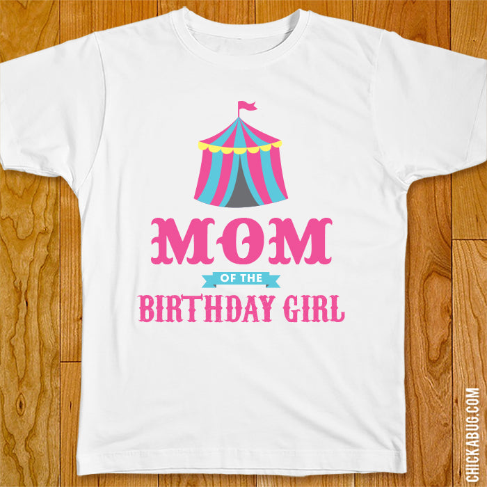 Pink Carnival Birthday Family Iron-On