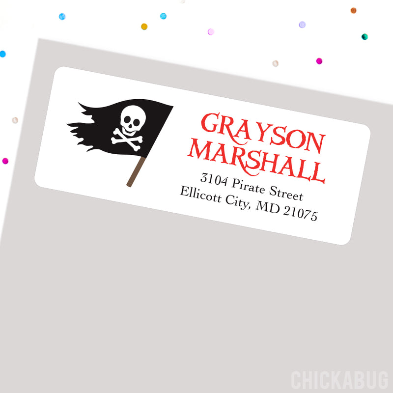 Pirate Flag Address Labels