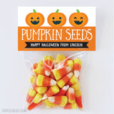 """Pumpkin Seeds"" Halloween Paper Tags and Bags"