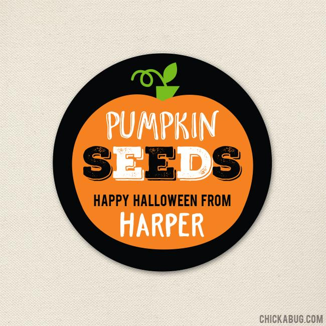 """Pumpkin Seeds"" Halloween Stickers"