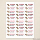 Puppy Address Labels - Red