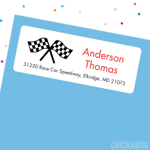 Checkered Flag Address Labels