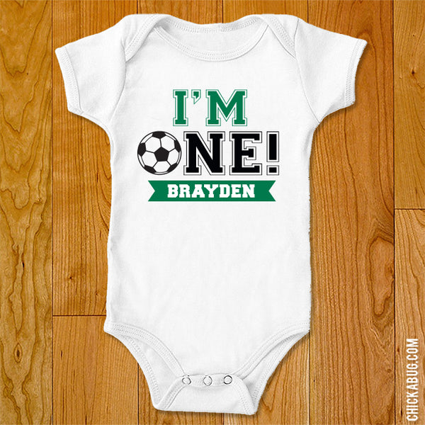 "Soccer ""I'm One"" Iron-On"