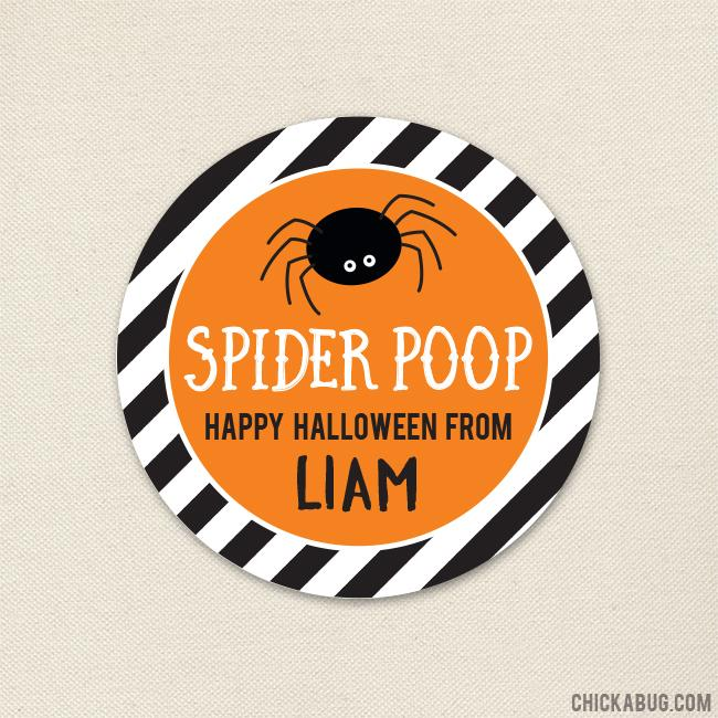 """Spider Poop"" Halloween Stickers"