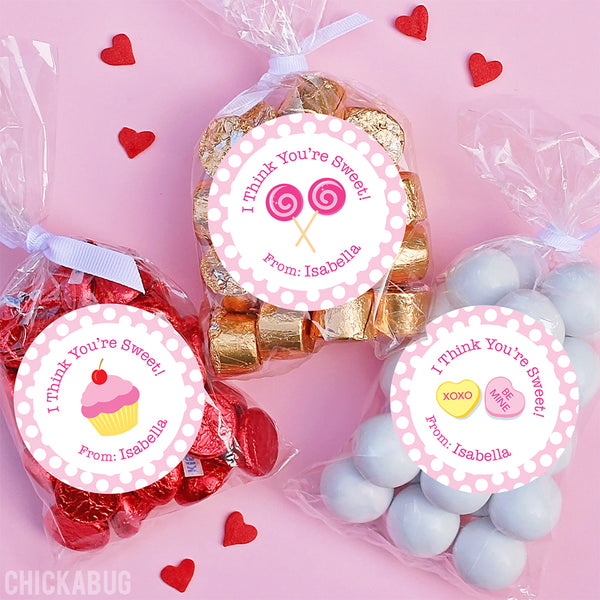 """You're Sweet"" Valentine's Day Stickers"