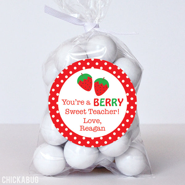 """You're a Berry Sweet Teacher"" Appreciation Stickers"