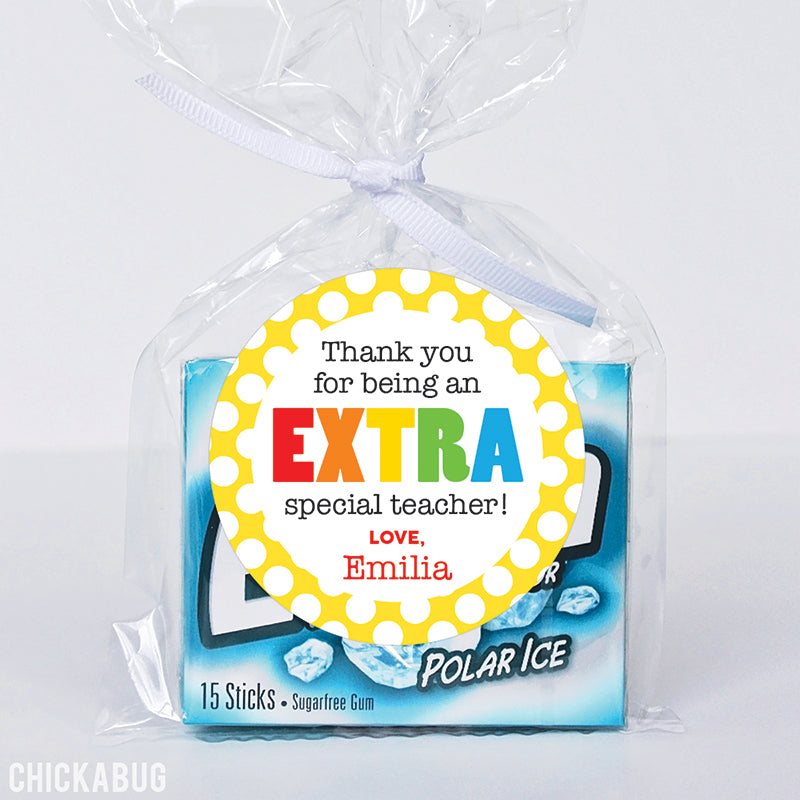 """Extra Special Teacher"" Appreciation Stickers"