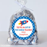 """Out of This World"" Teacher Appreciation Stickers"