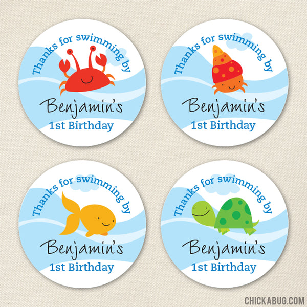 Under the Sea Party Favor Stickers