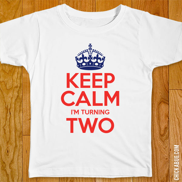 "Union Jack ""Keep Calm"" Birthday Iron-On"