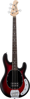Sterling by Music Man StingRay Ray4 Bass Ruby Red Burst Satin