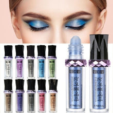 Load image into Gallery viewer, 11 Colors Roller Ball Shimmer Eyeshadow Pen Long Lasting Gold Mineral Eye Shadow Makeup