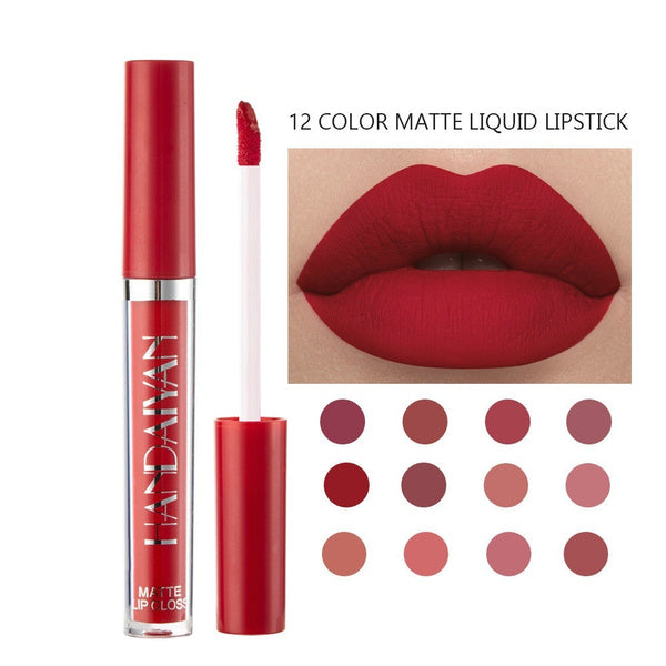 Sexy Matte Lipstick Makeup 12 Colors To Choose Nude Long Lasting Pigment Waterproof Nutritious Velvet Lips Stick Cosmetic for Women