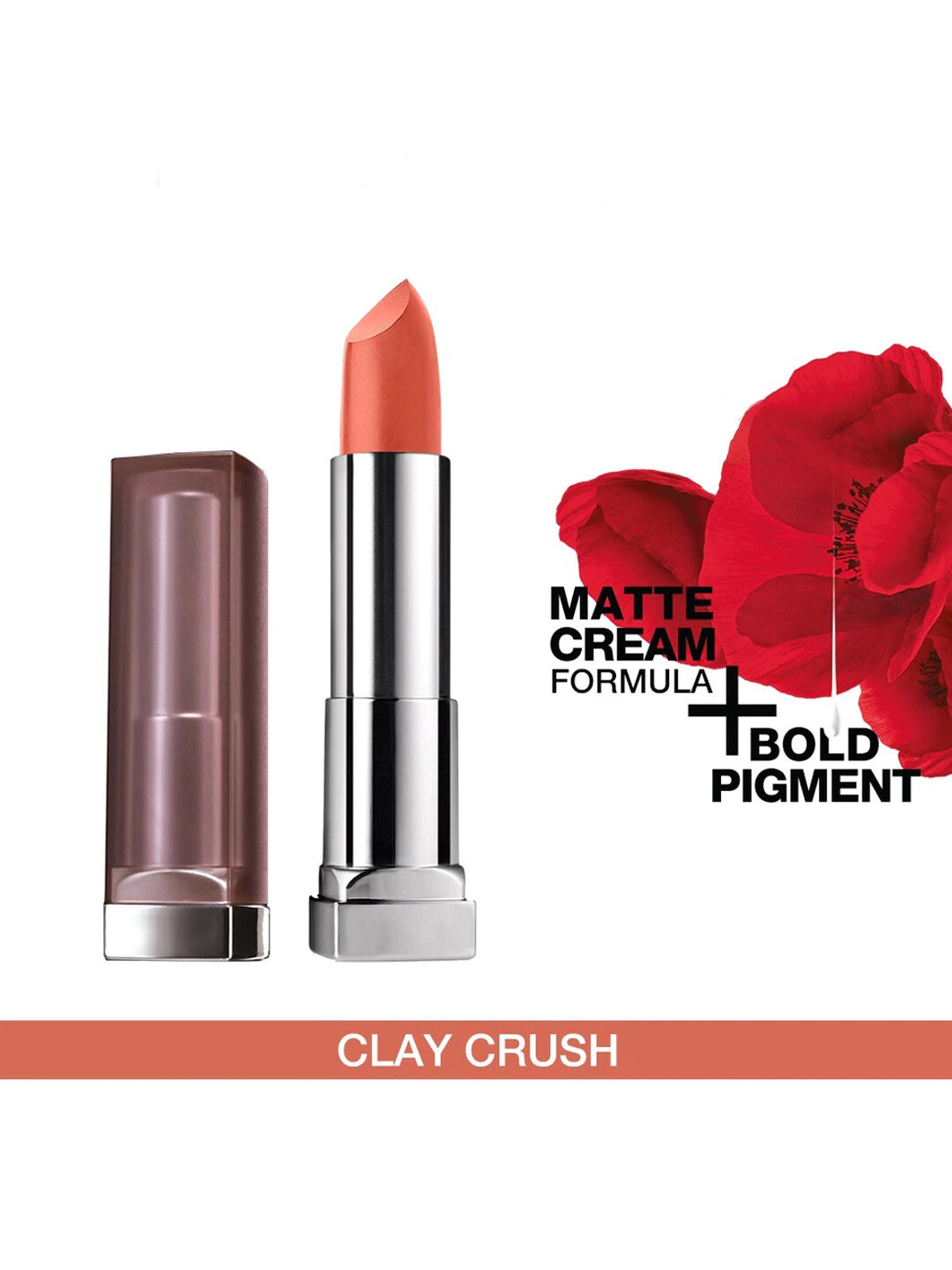 Super Color Sensational Creamy Matte Lipstick - 656 Clay Crush 3.9 g