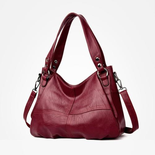 New Luxury Genuine Brown Leather Tote Bag for Woman