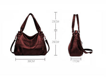 Load image into Gallery viewer, New Luxury Genuine Brown Leather Tote Bag for Woman