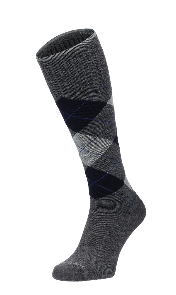 Argyle Men Compression Socks Class 1 Charcoal