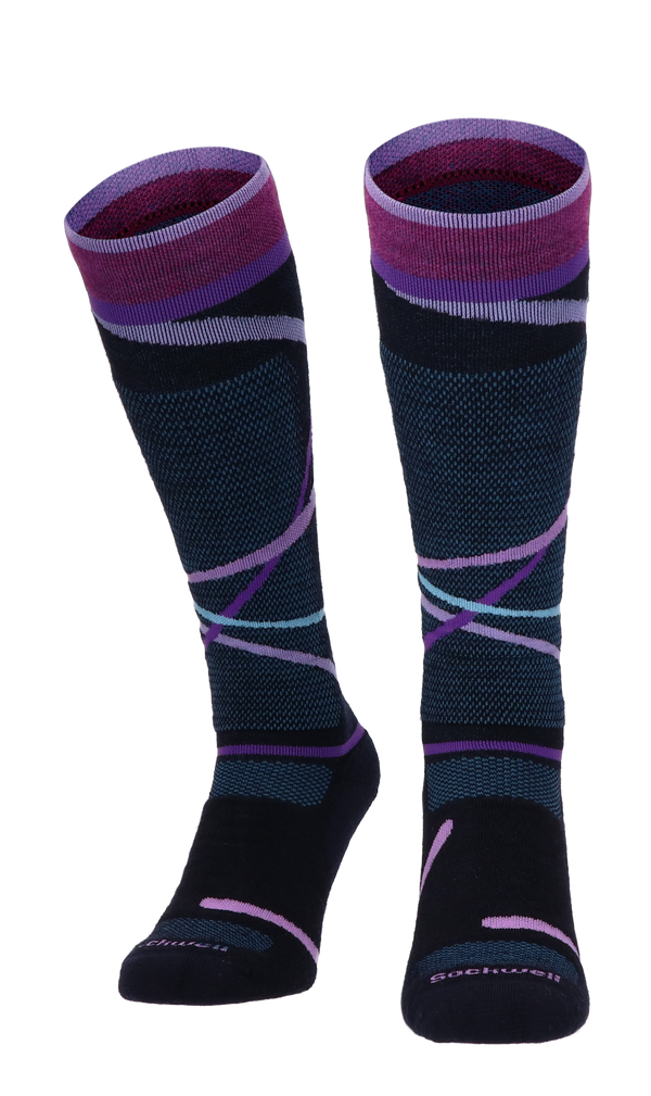 Free Ski Medium Women Ski Socks Class 1 Navy