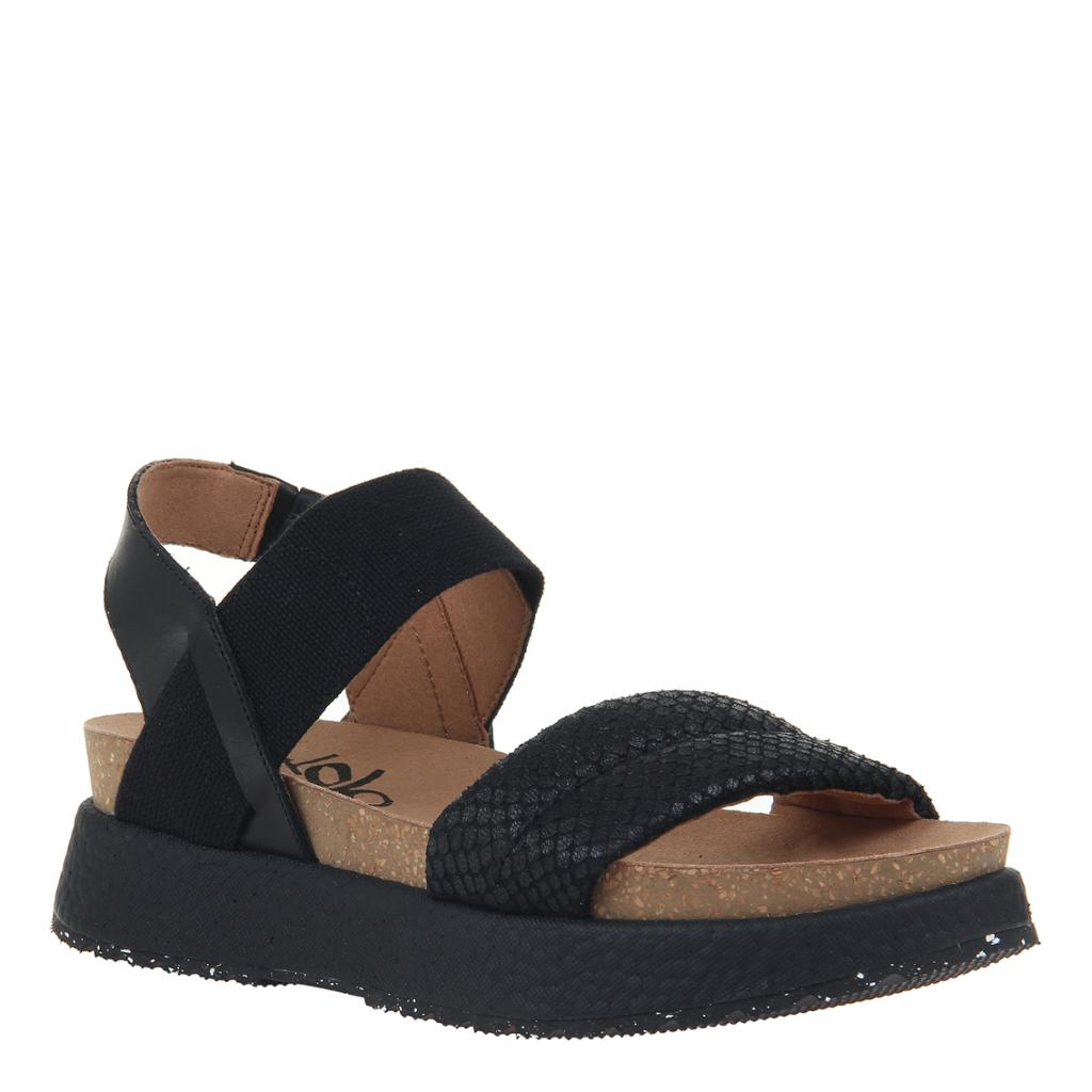 OTBT - LIBRA in BLACK Wedge Sandals