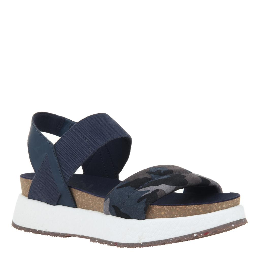 OTBT - LIBRA in BLUE CAMO Wedge Sandals