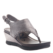 Load image into Gallery viewer, OTBT - MEDITATE in SILVER Wedge Sandals