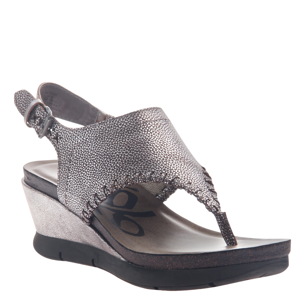 OTBT - MEDITATE in SILVER Wedge Sandals
