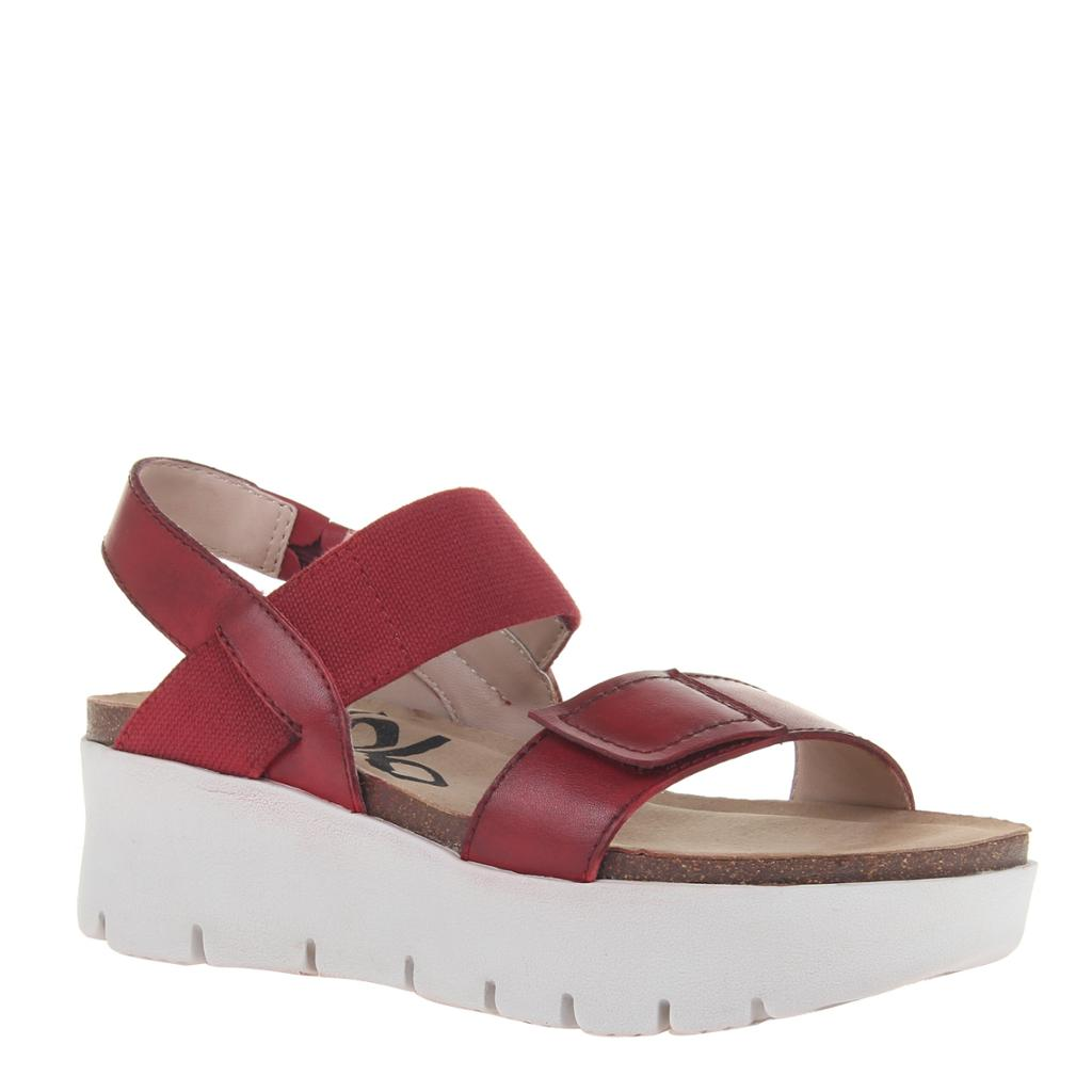 OTBT - NOVA in RED Wedge Sandals