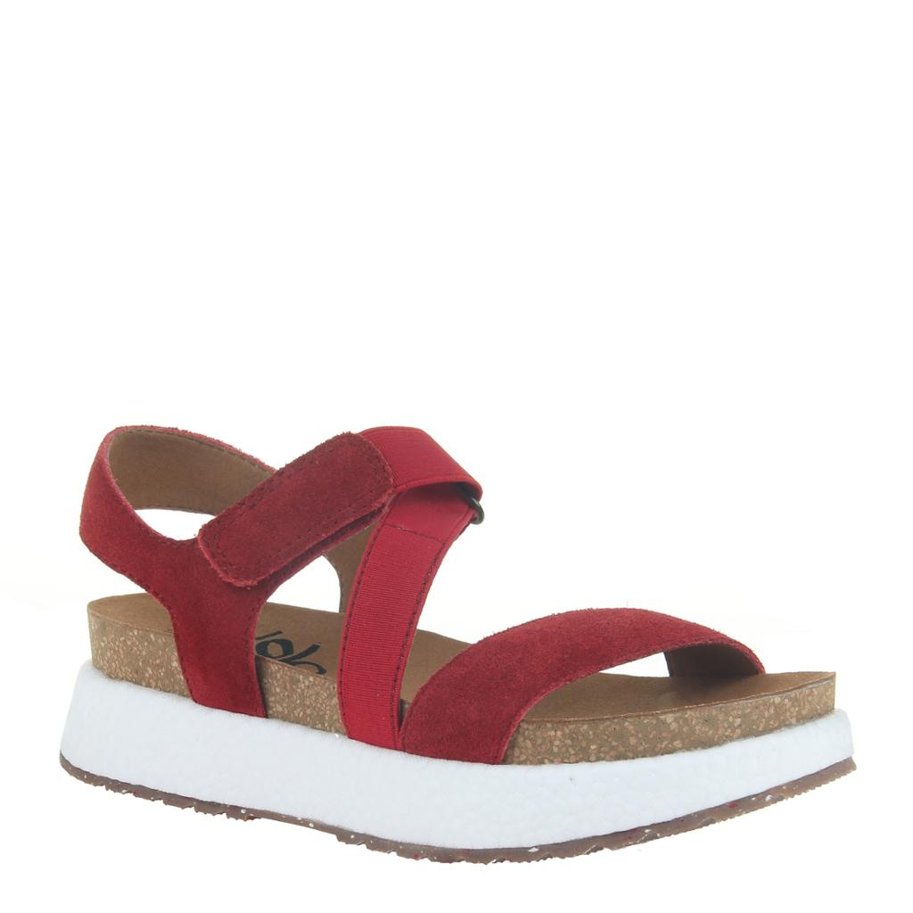 OTBT - SIERRA in RED Wedge Sandals
