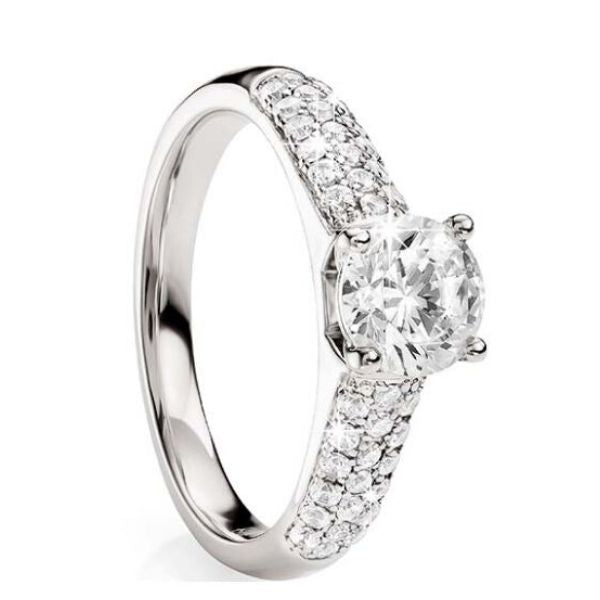 Diamond Engagement Ring 18ct White Gold