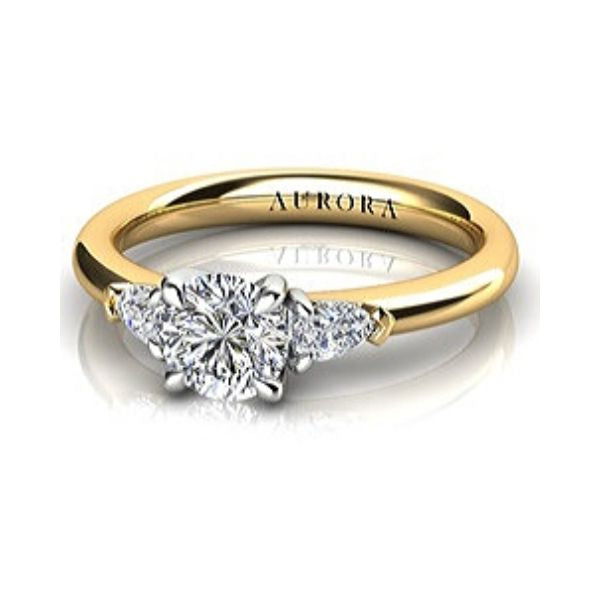 Diamond Ring Aurora 18ct Yellow Gold & Platinum