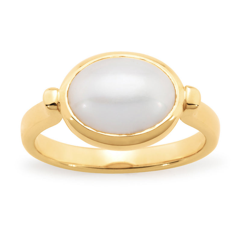 Mabe Pearl Ring 9ct Yellow Gold