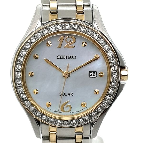 Seiko Ladies Two Tone Solar Dress Watch