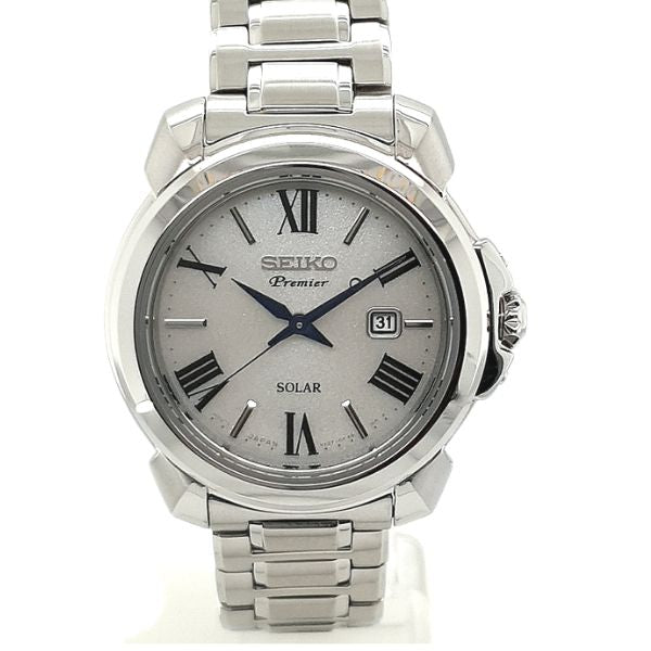 Seiko Premier Ladies Stainless Steel Solar Dress Watch