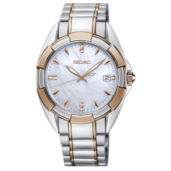 Seiko Rose Two Tone Ladies Dress Watch