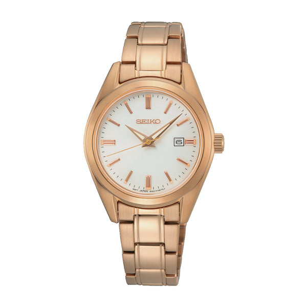 Seiko Rose Gold Plated Ladies Dress Watch